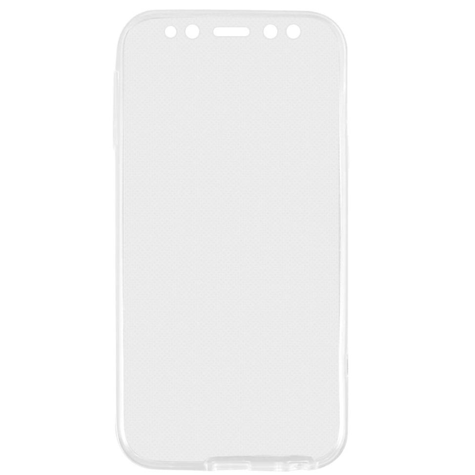 Fotografie Husa de protectie Lemontti Full Cover 360 pentru Samsung Galaxy A8 2018, Clear