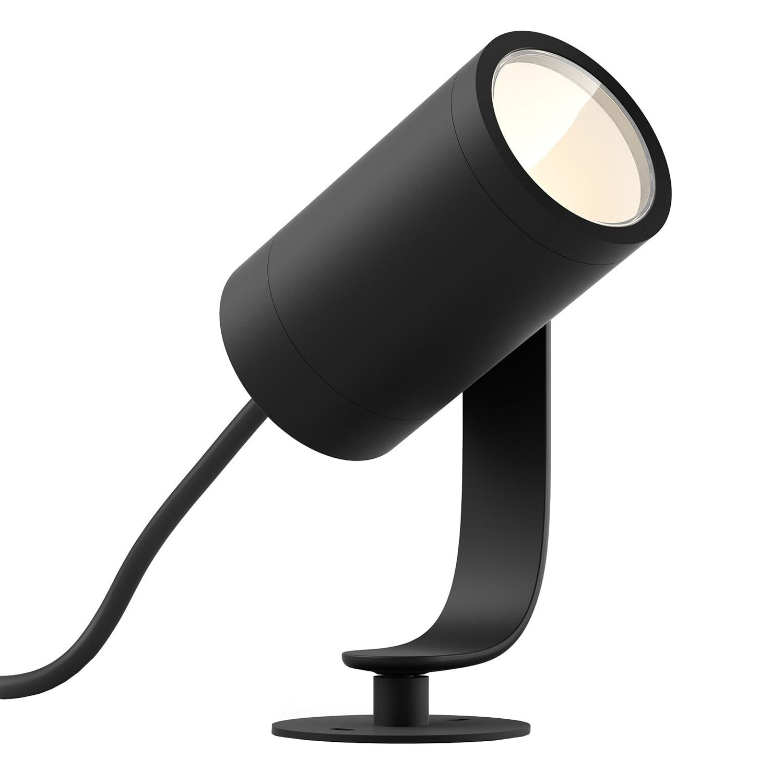 Fotografie Proiector LED RGB exterior Philips HUE Lily, unitate de baza, 8W, 640 lm, IP65, aluminiu, lumina ambientala alba si color