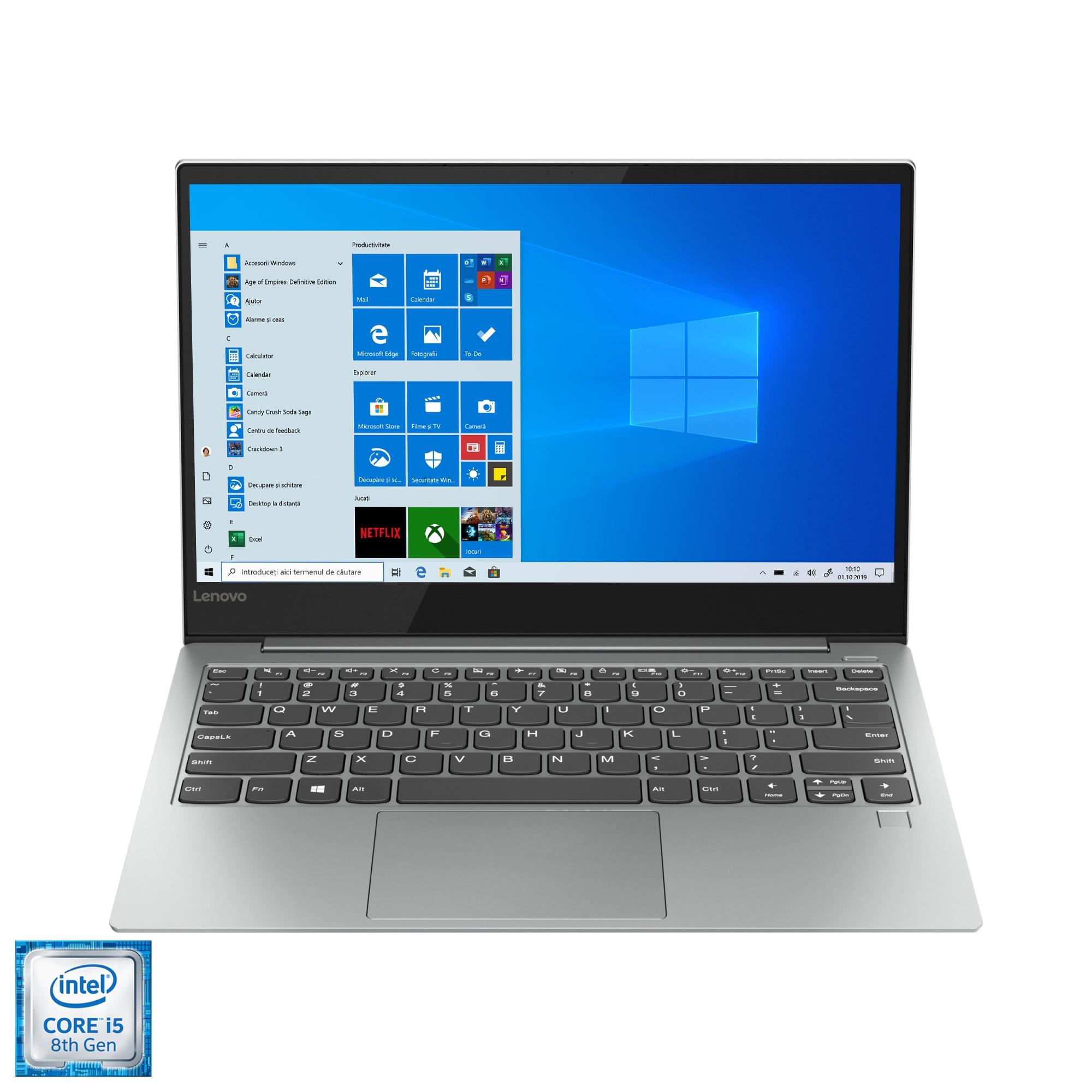 "Fotografie Laptop ultraportabil Lenovo YOGA S730-13IWL cu procesor Intel® Core™ i5-8265U pana la 3.90 GHz, Whiskey Lake, 13.3"", Full HD, IPS, 16GB, 512GB SSD, Intel® UHD Graphics 620, Microsoft Windows 10, Platinum"