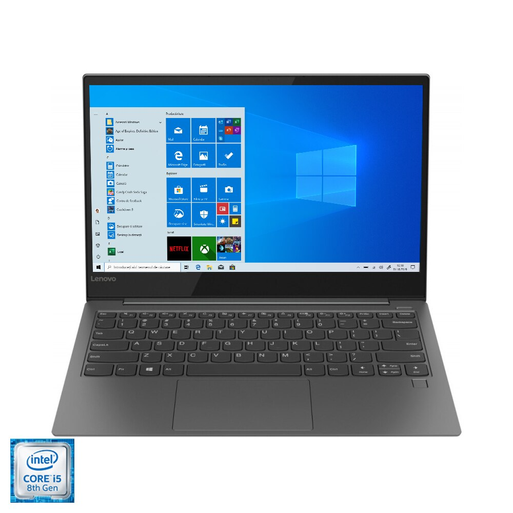 "Fotografie Laptop ultraportabil Lenovo YOGA S730-13IWL cu procesor Intel® Core™ i5-8265U pana la 3.90 GHz, Whiskey Lake, 13.3"", Full HD, IPS, 16GB, 512GB SSD, Intel® UHD Graphics 620, Microsoft Windows 10, Iron Grey"