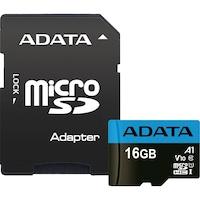 ADATA Premier Memóriakártya, MicroSDCX/SDHC 16GB, UHS-I Class10 + Adapter