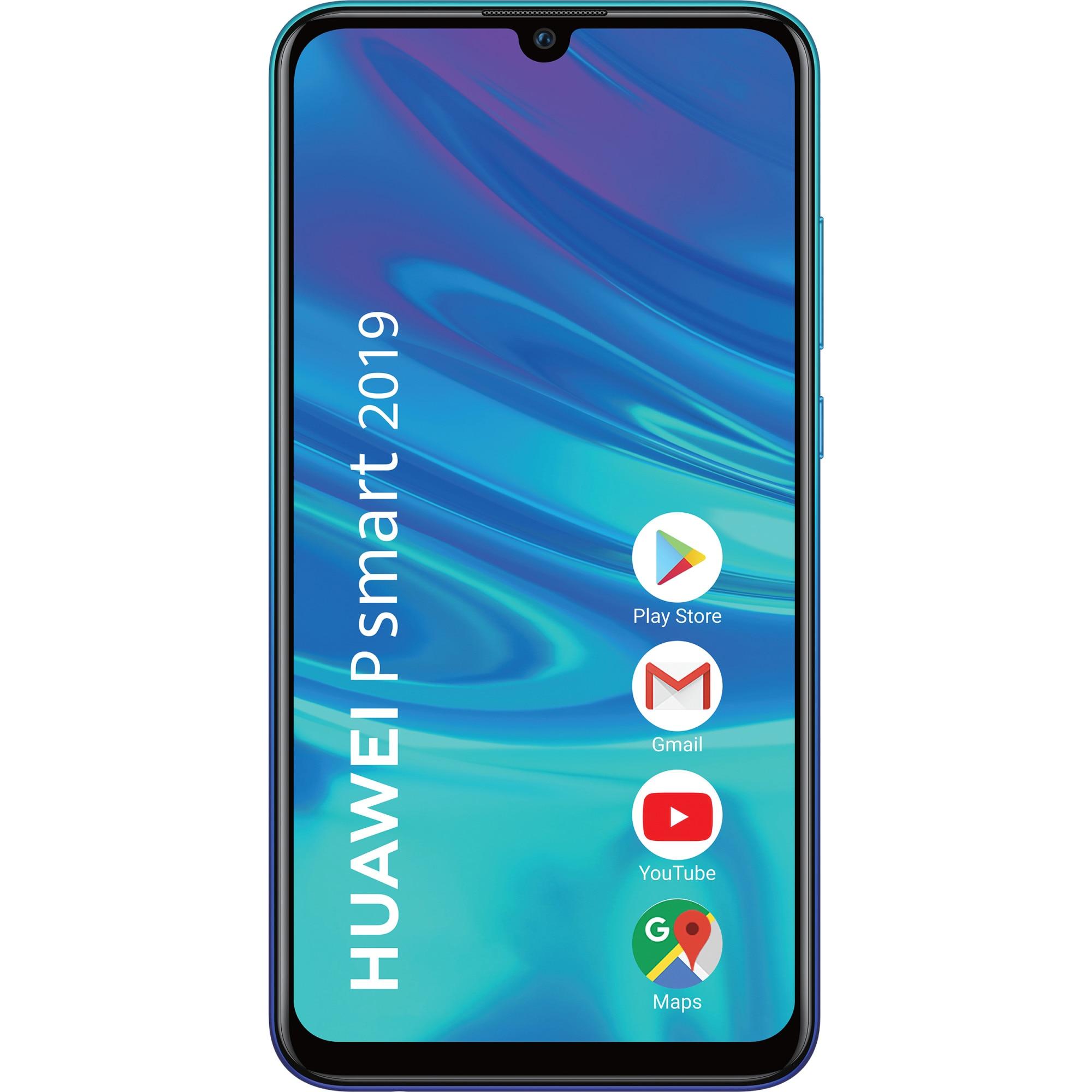 Fotografie Telefon mobil Huawei P Smart (2019), Dual SIM, 64GB, 4G, Aurora Blue