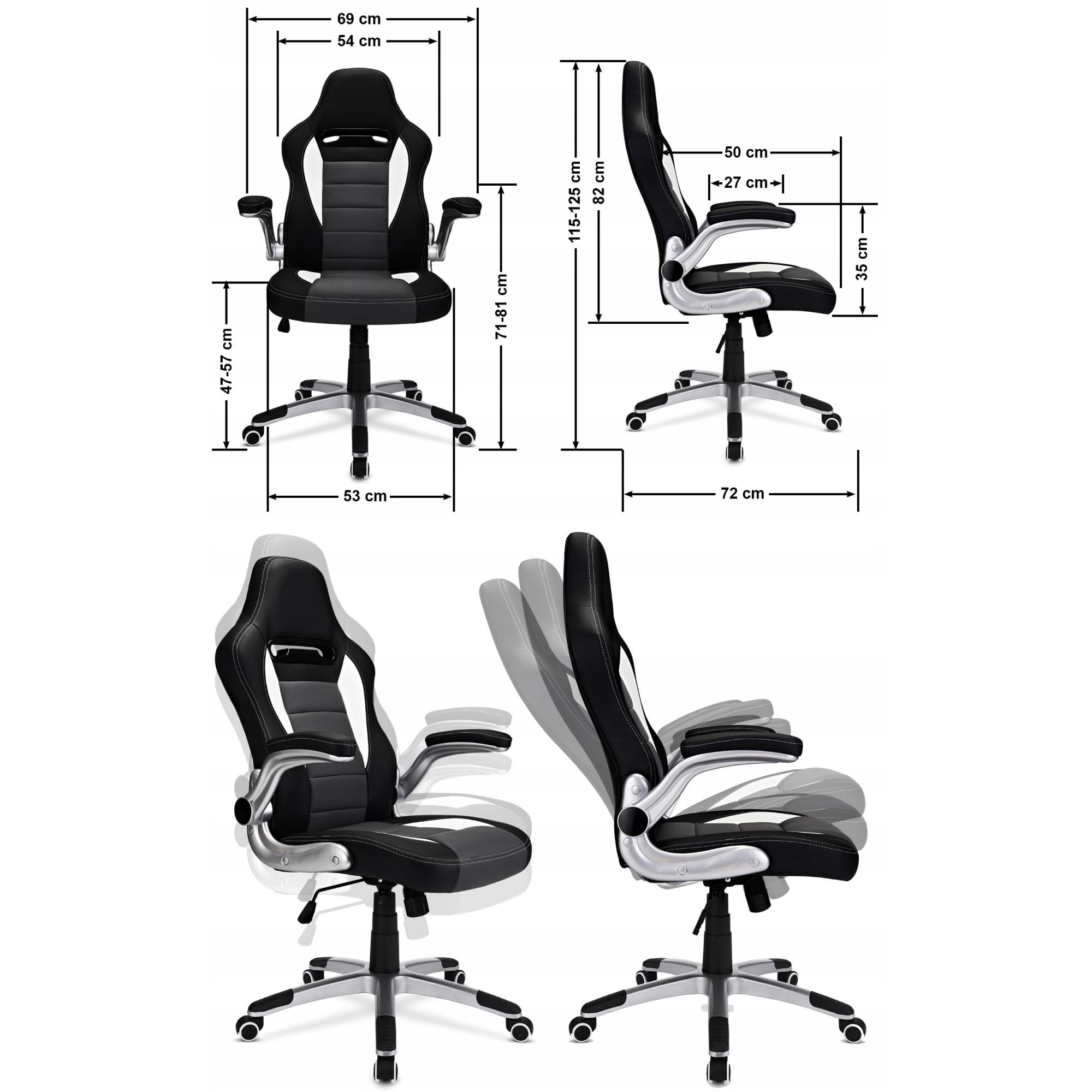 FOTEL BIUROWY OBROTOWY krzesło biurowe GTR 2.0