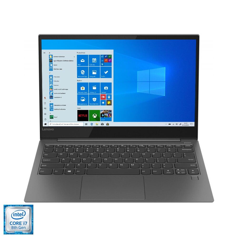 "Fotografie Laptop ultraportabil Lenovo YOGA S730-13IWL cu procesor Intel® Core™ i7-8565U pana la 4.60 GHz, Whiskey Lake 13.3"", Full HD, IPS, 16GB, 512GB SSD M.2, Intel® UHD Graphics 620, Microsoft Windows 10, Iron Grey"