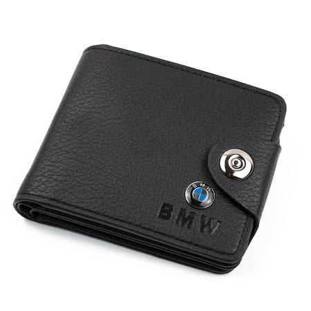 Мъжки портфейл Bailini, модел BMW PT46, Естествена кожа, Черен