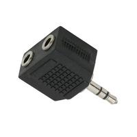 Audió adapter, 3,5 mm-es sztereó jack, 2 darab 3,5 mm-es sztereó jack