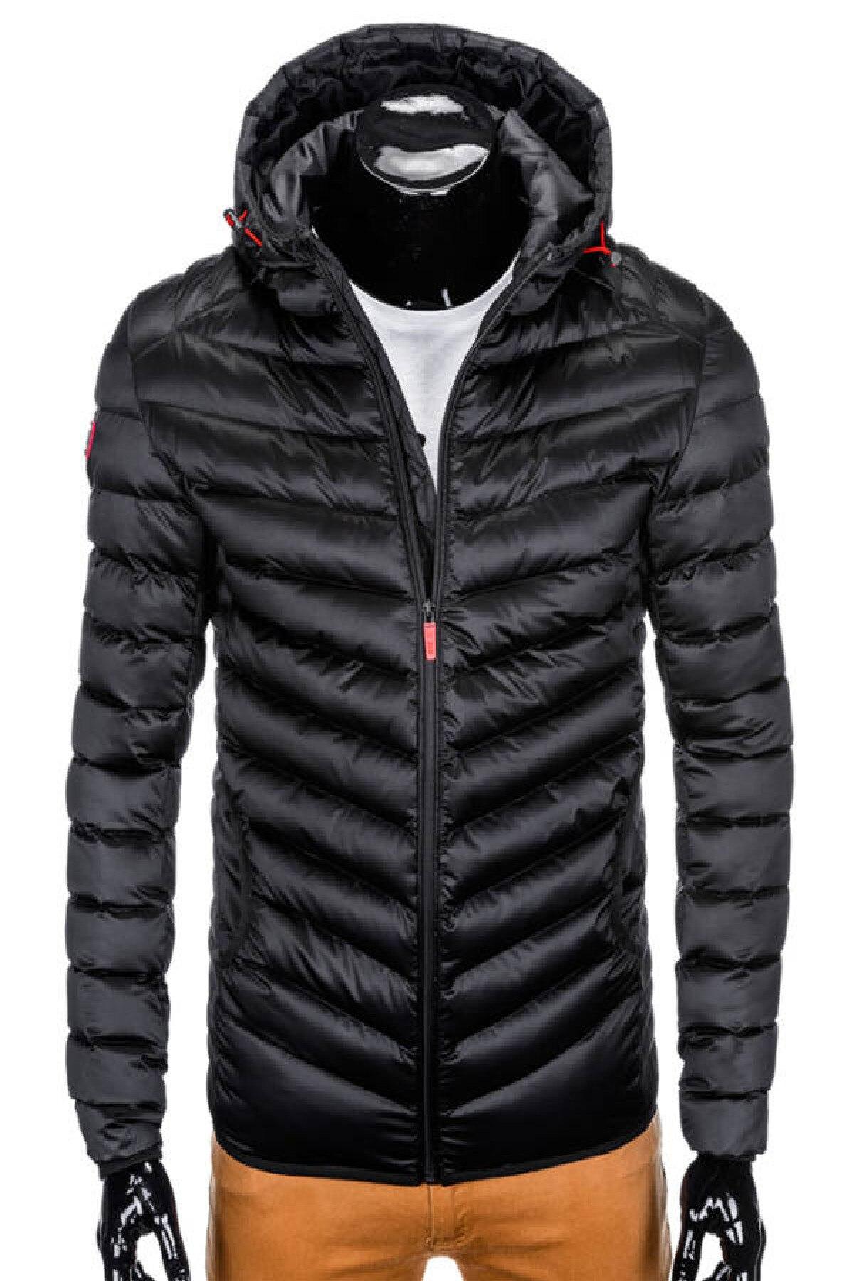 Ombre C368 férfi téli dzseki Fekete, XL