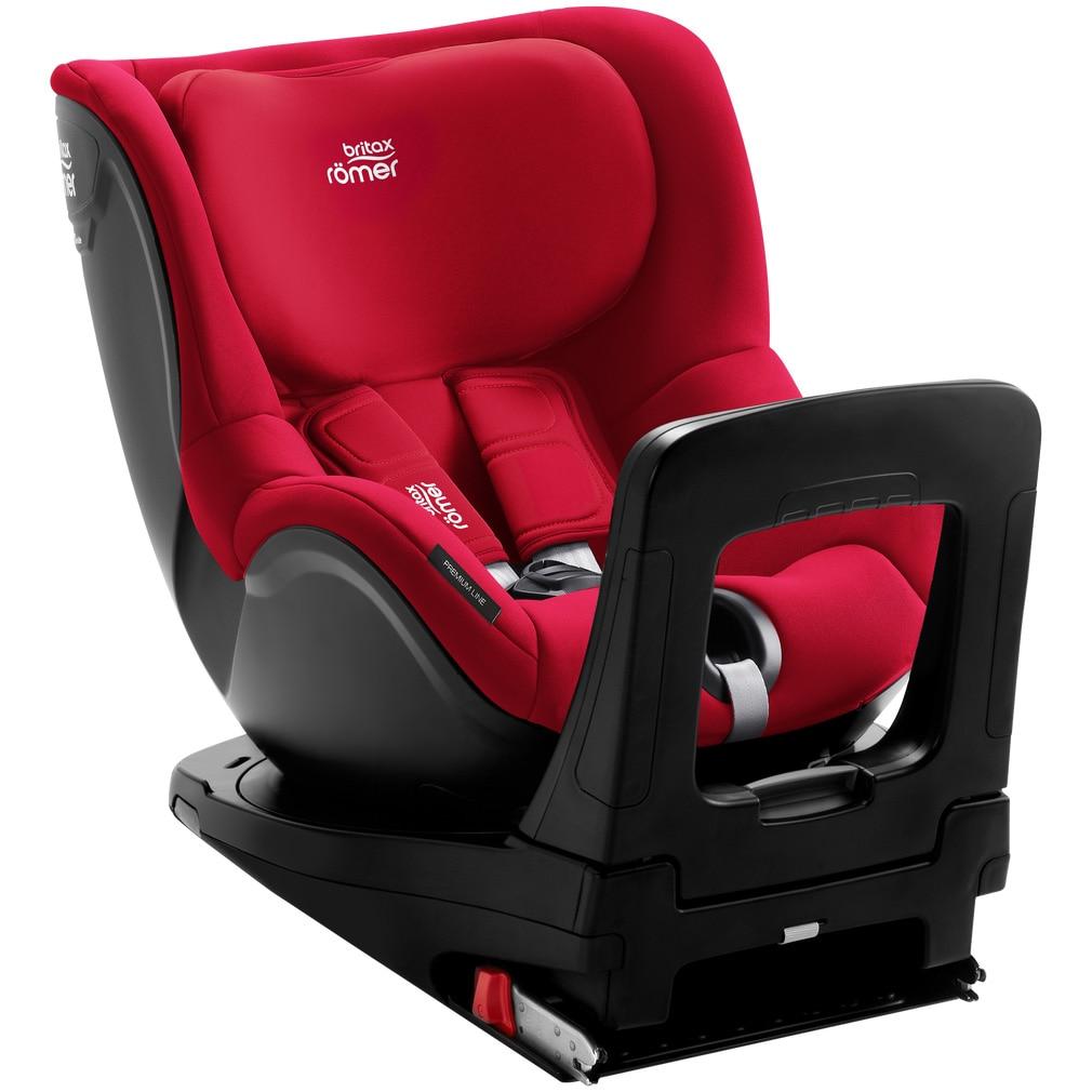 Fotografie Scaun auto ISOFIX i-Size Britax Romer DUALFIX M Fire Red, 61-105 cm, rotativ, Rosu
