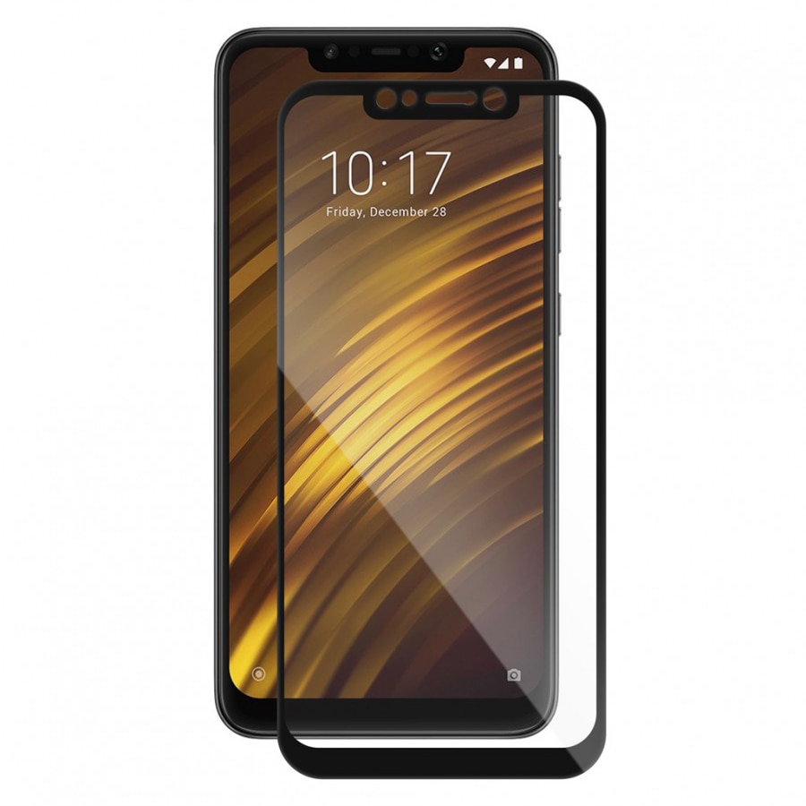 Fotografie Folie de protectie Vetter GO Tempered Glass pentru Xiaomi Pocophone F1, Full Frame, Black