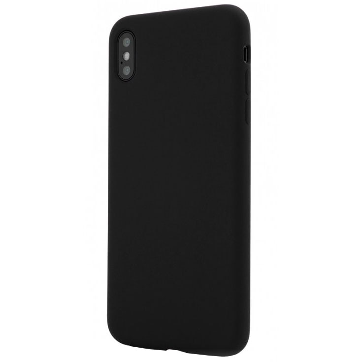 Fotografie Husa de protectie Vetter Clip-On Soft Touch Silk Series pentru iPhone XS Max, Black