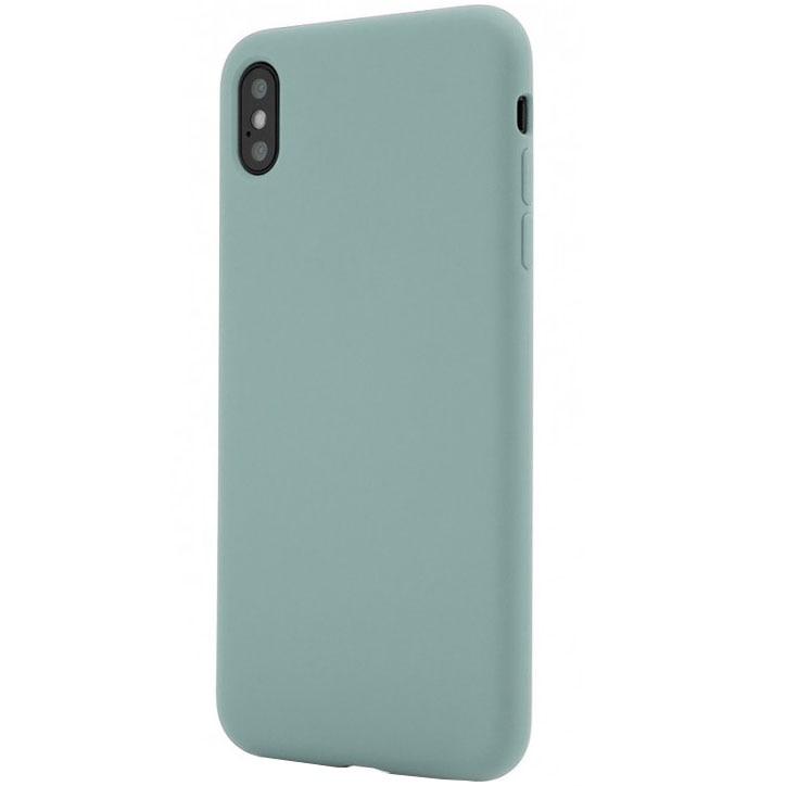 Fotografie Husa de protectie Vetter Clip-On Soft Touch Silk Series pentru iPhone XS Max, Green