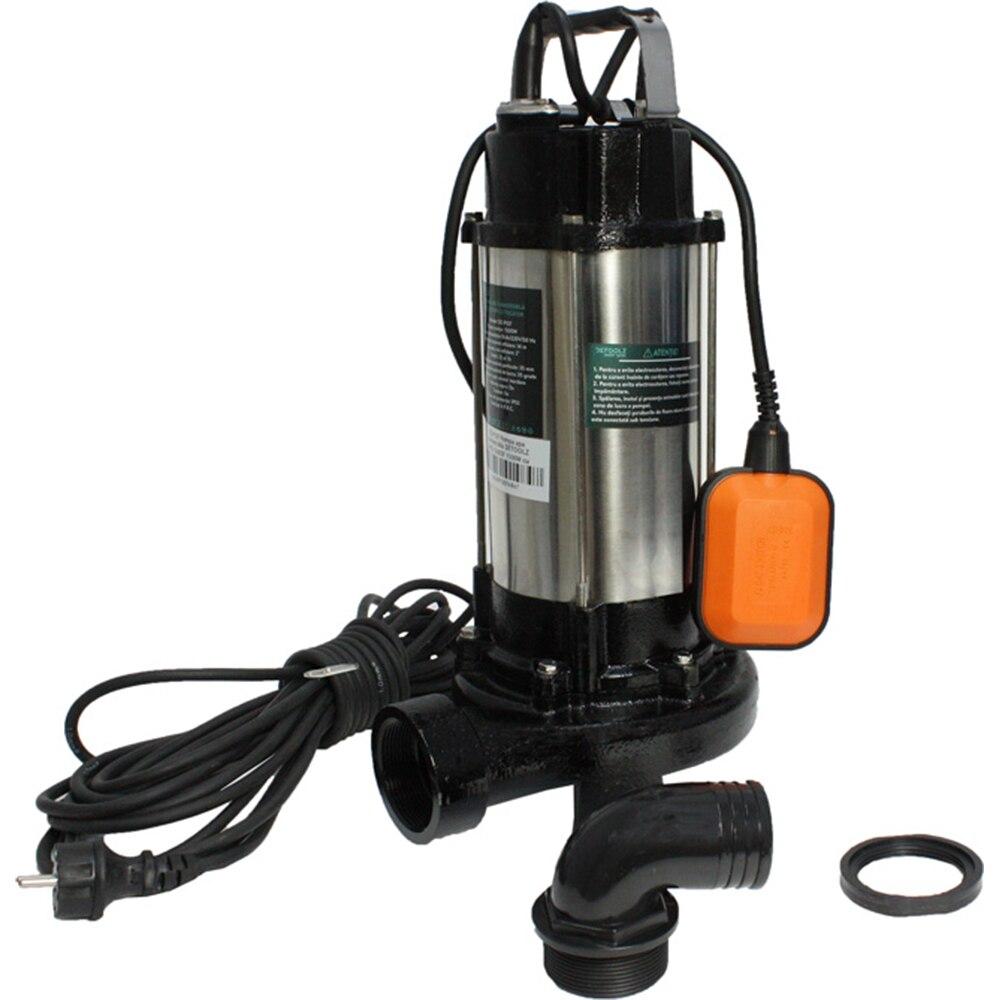 Fotografie Pompa apa submersibila WQD1500DF DETOOLZ, 1500W, cu tocator, apa curata/murdara