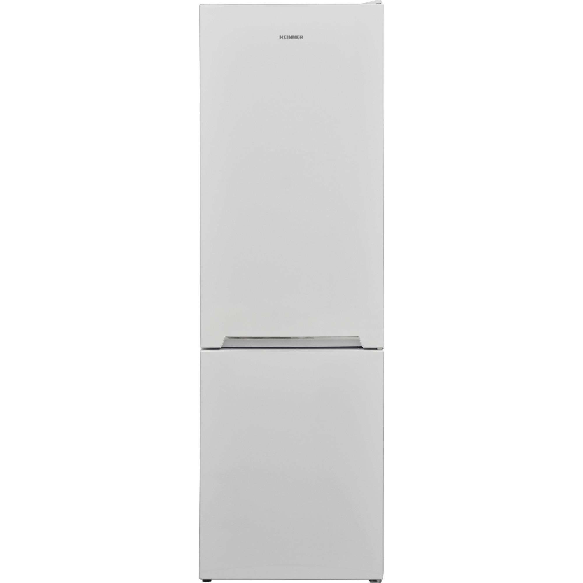Fotografie Combina frigorifica Heinner HC-V268E++, 268 l, Clasa E, Iluminare LED, Control mecanic, Termostat ajustabil, H 170 cm, Alb