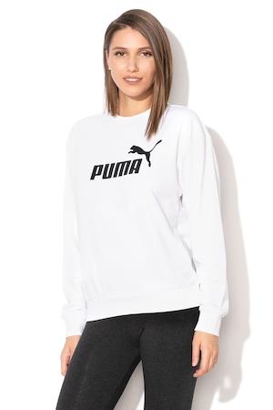 Puma, Суитшърт Essentials с лого, Бял, M