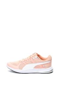 Puma, Pantofi cu branturi cu amortizare, pentru fitness Escaper Tech, Roz piersica/Alb, 6