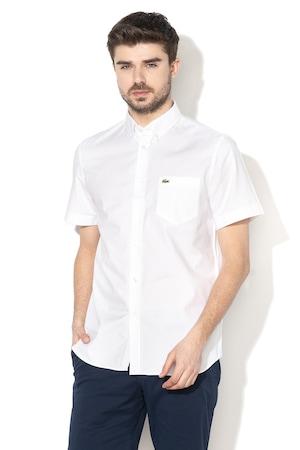 Lacoste, Риза с къси ръкави и стандартна кройка, Бял