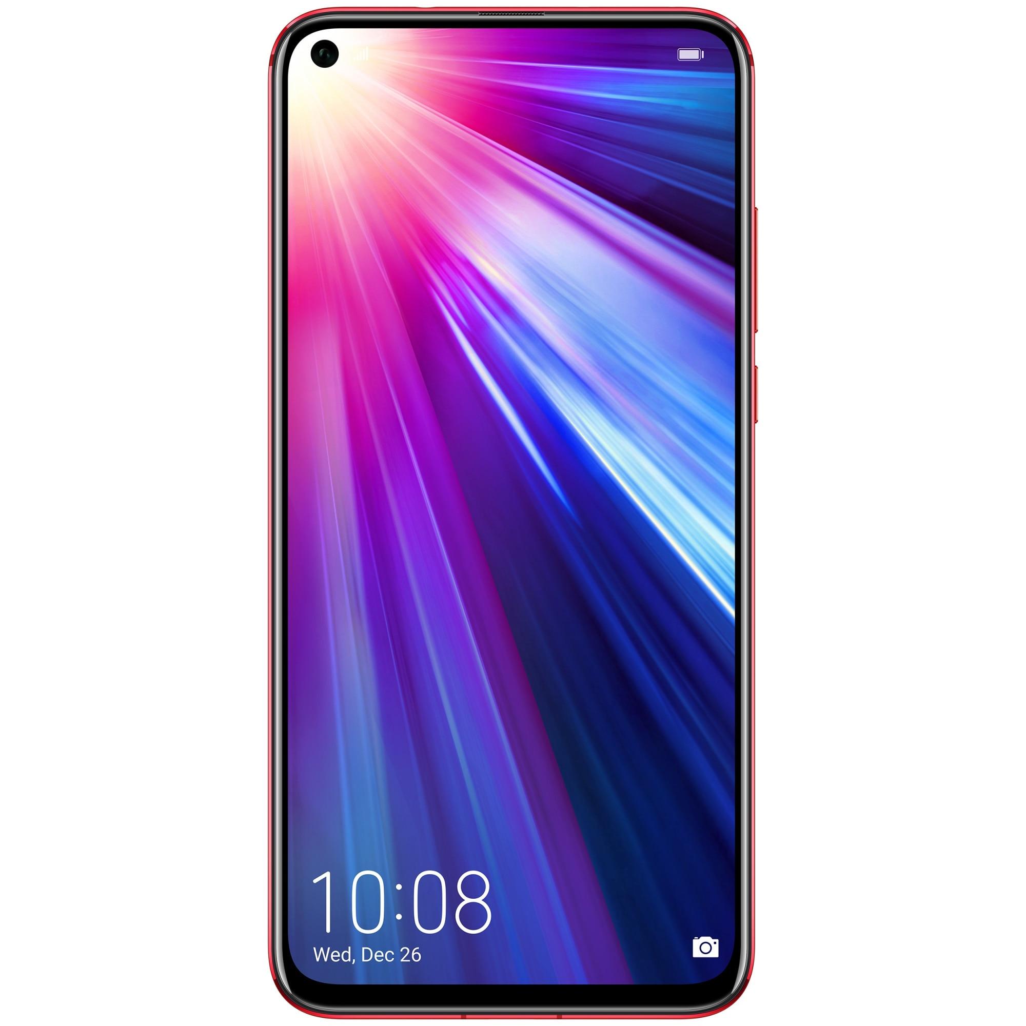 Fotografie Telefon mobil Honor View 20, Dual SIM, 256GB, 8GB RAM, 4G, Moschino Edition, Phantom Red