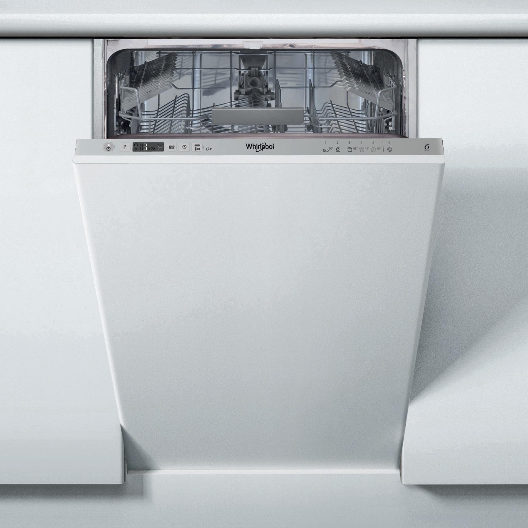 Fotografie Masina de spalat vase incorporabila Whirlpool WSIC 3M17, 10 seturi, 6 programe, 6th Sense, Clasa A+, 45 cm