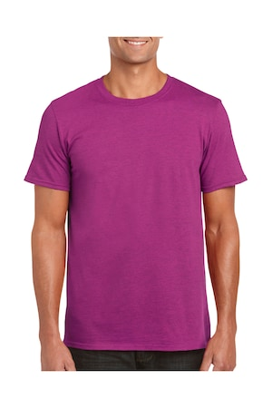 Férfi póló rövid ujjú Gildan Softstyle® Ring Spun T-Shirt Antik heliconia (sötét rózsaszín) M INTL