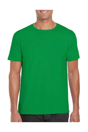 Férfi póló rövid ujjú Gildan Softstyle® Ring Spun T-Shirt Ír zöld 3XL INTL