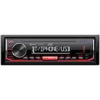 Player auto JVC, KD-X362BT, 4x50W, USB, AUX, bluetooth, subwoofer control, iluminare rosu