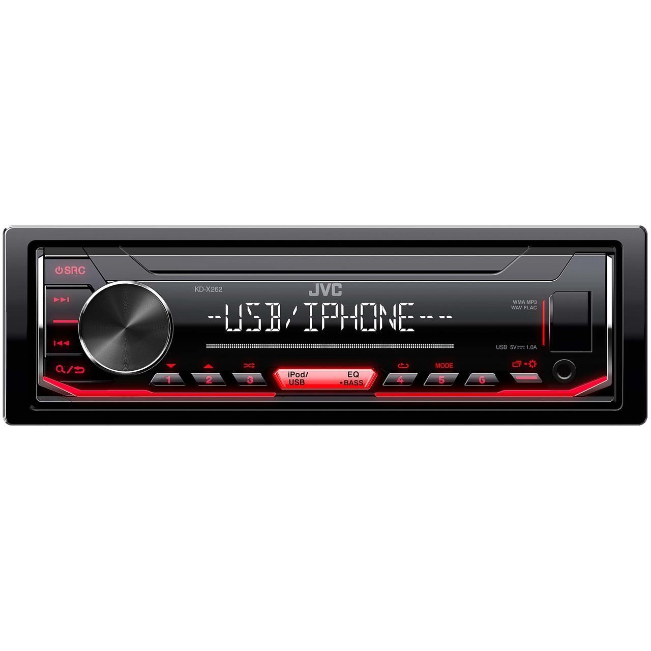 Fotografie Player auto JVC KD-X262, 4x50W, USB, AUX, subwoofer control