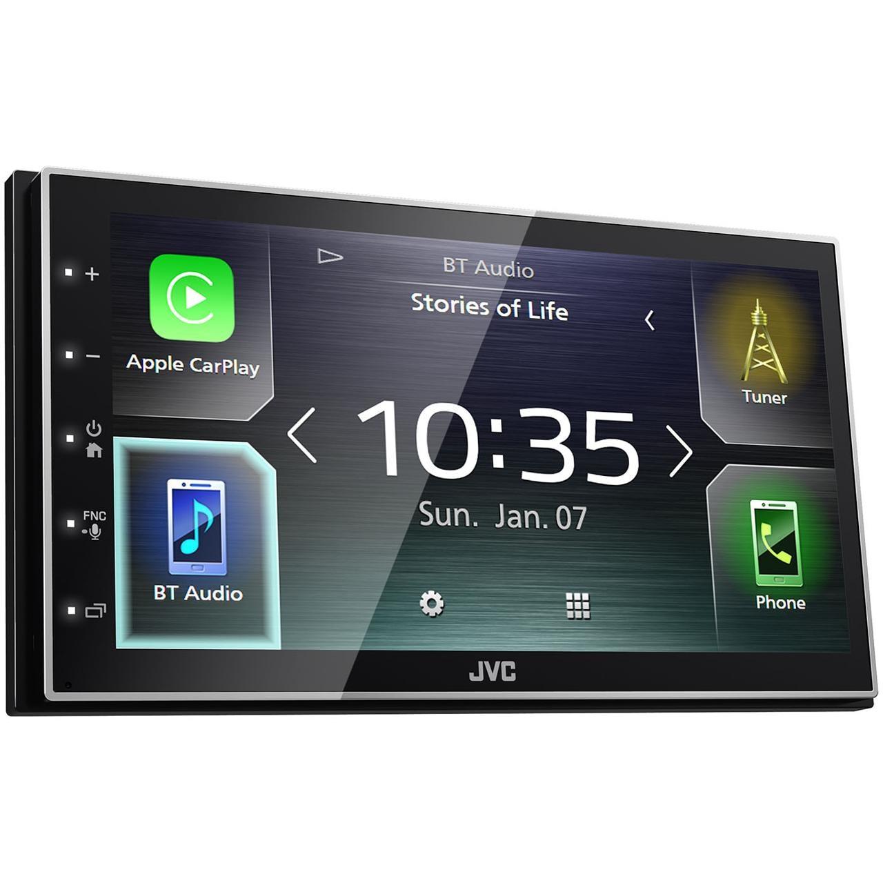 "Fotografie Sistem multimedia JVC KWM741BT , Apple CarPlay, Android Auto, display tactil 6.8""; bluetooth; USBx1.5; intrare camera marsarier"