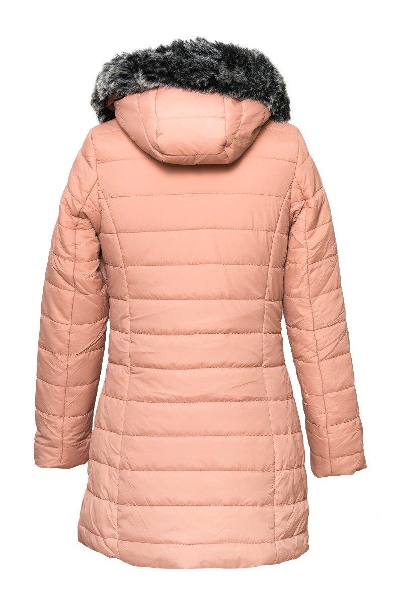 Kotikoti Grace szőrmekapucnis télikabát szürke S eMAG.hu