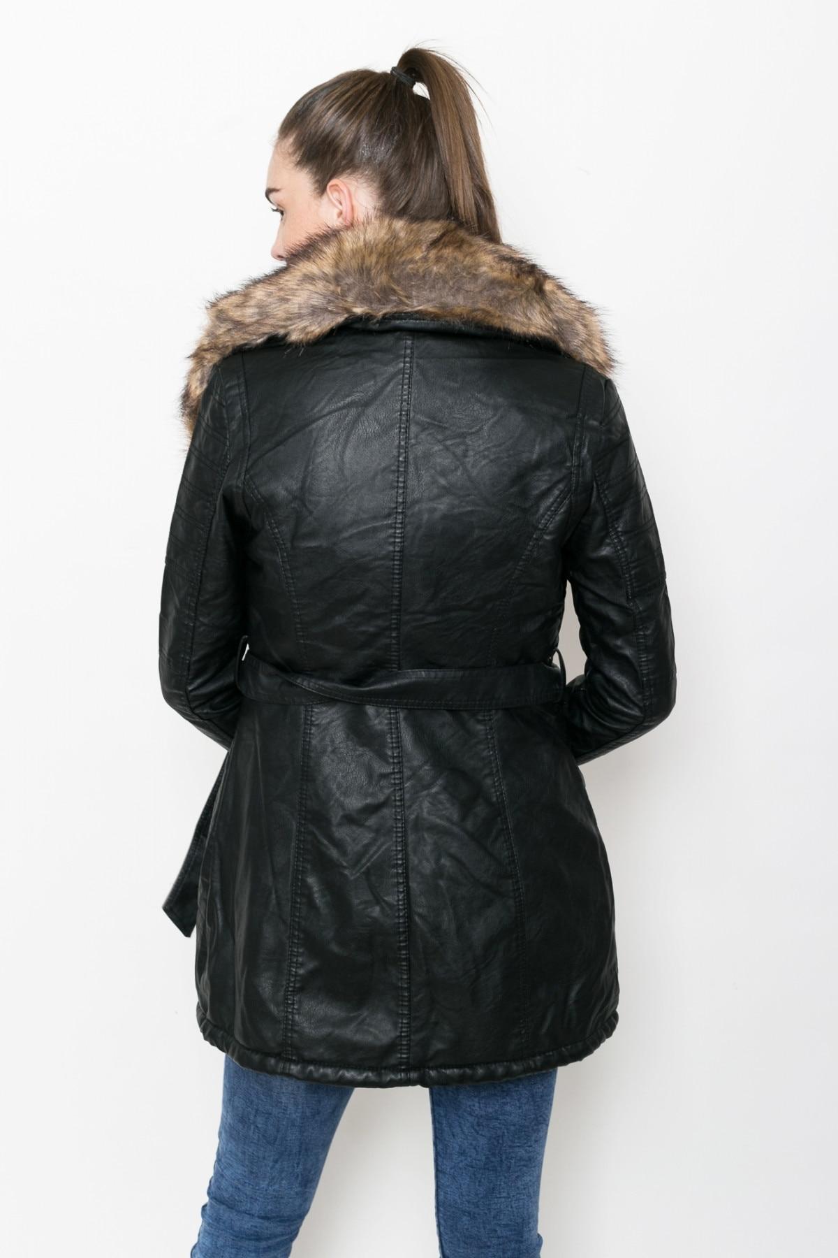 Női kabát Stradivarius, fekete, méret S eMAG.hu