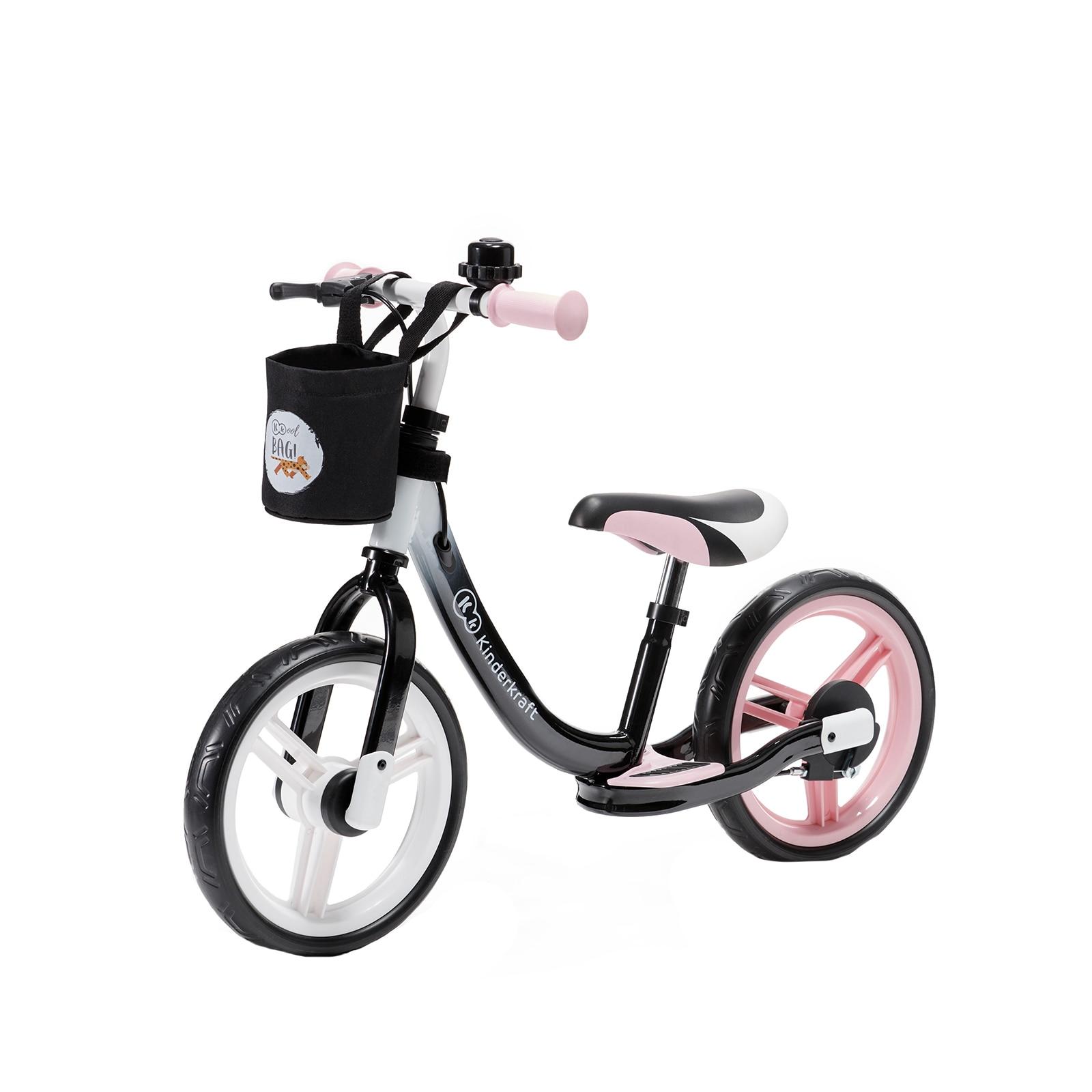 "Fotografie Bicicleta fara pedale Kinderkraft, 12"", Space roz"