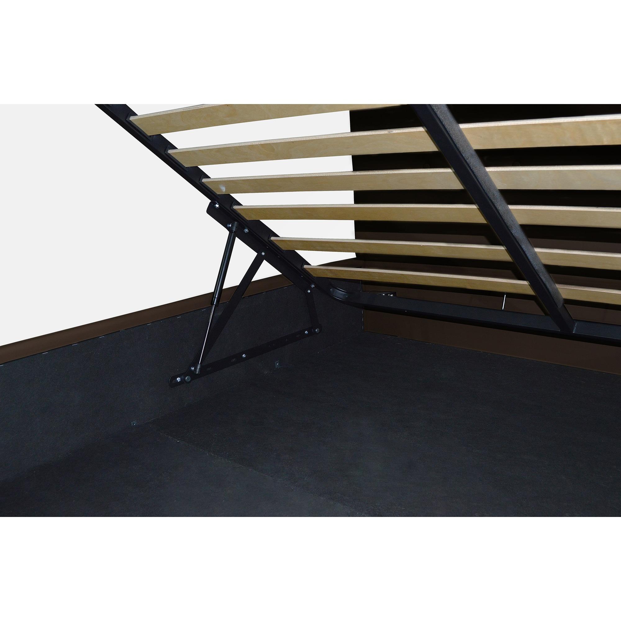 Kring King Ágykeret ágyneműtartóval, 160x200cm, Antracit
