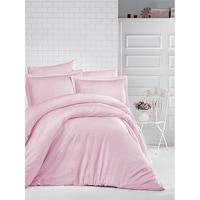 Kétszemélyes ágynemű garnitúra 2 paplan, 5 része, Ralex Pucioasa, 100% damaszt pamut, Rózsaszínű por