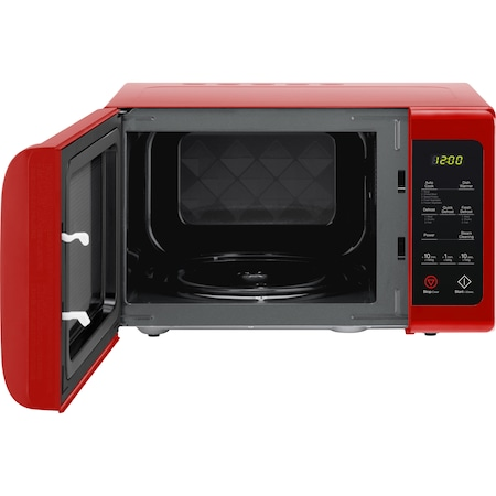 Микровълнова фурна Daewoo KOR-91RBR, 25 л, 900 W, Цифрова, Електронен дисплей, Таймер, Zero&On, SteamCleaning, Червена