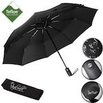 """Umbrela de Lux pliabila """"Royal Walk"""", cu Deschidere si Inchidere Automata, Pentru femei si barbati, Compact, Protectie ploaie, Uscare rapida, Neagra, Usoara, 102cm"""