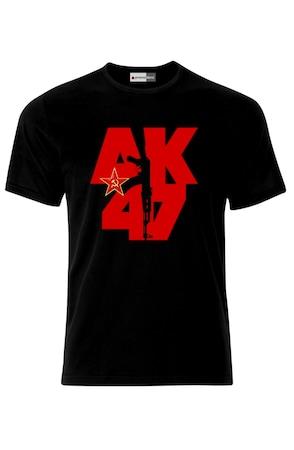 Мъжка Тениска VG Style Калашников СССР Русия Съветски Съюз Путин AK47 Kalashnikov USSR Army Russia, Черен