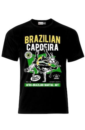 Мъжка Тениска VG Style Капоейра Бокс Кикбокс Смесени Бойни Изкуства Brazilian Capoeira MMA UFC Martial Arts,