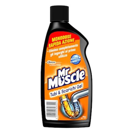 Mr. Muscle Lefolyótisztító Gél 500ml, egyszeri adag