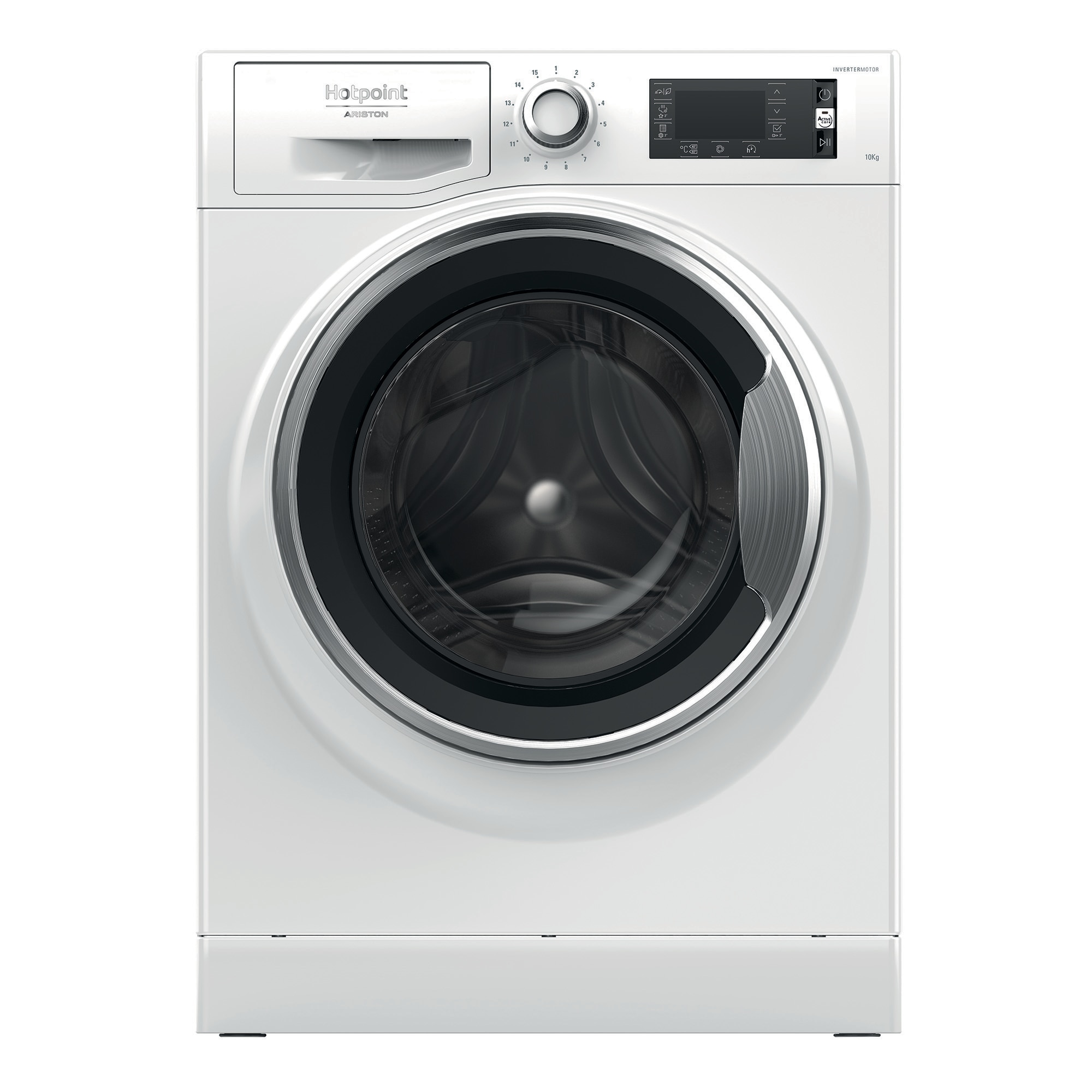 Fotografie Masina de spalat rufe Hotpoint NLLCD 1047 WC AD EU, 10 kg, 1400 RPM, Clasa A+++, Sistem Active Care, Sistem Stop&Add, Sistem igienizare aburi, Alb