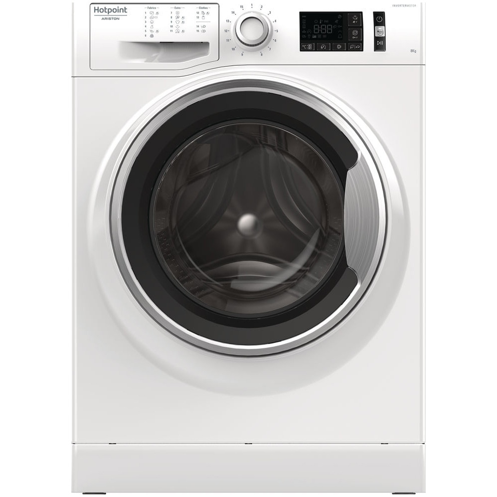Fotografie Masina de spalat rufe Hotpoint NM11 825 WS A EU, 8 kg, 1200 RPM, Clasa A+++, Motor Inverter, ActiveCare, Steam Pack, Stop&Add, Final Care, Alb