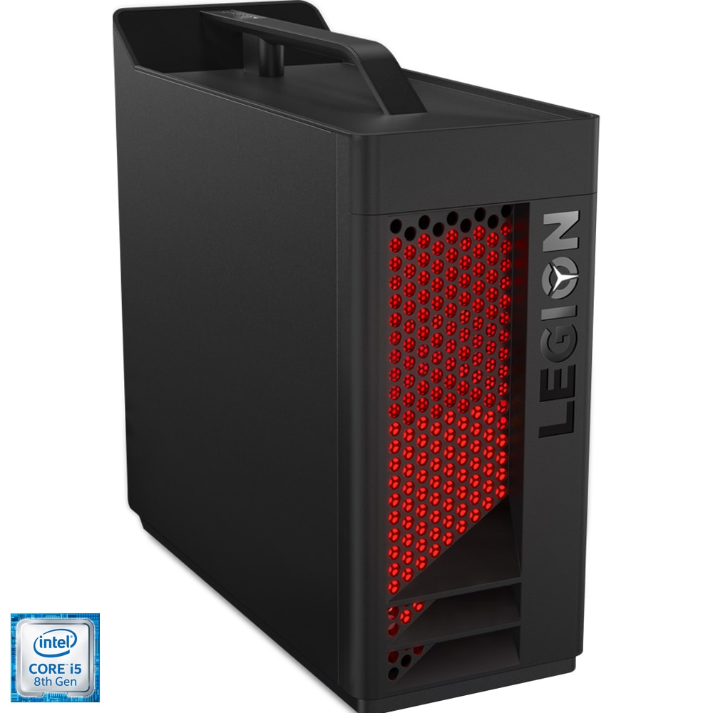 Fotografie Sistem Desktop Gaming Lenovo Legion T530-28ICB cu procesor Intel® Core™ i5-8400 pana la 4.00GHz, Coffee Lake, 8GB, 1TB HDD, DVD-RW, nVIDIA® GeForce® GTX 1050 Ti 4GB GDDR5, Free DOS, Black