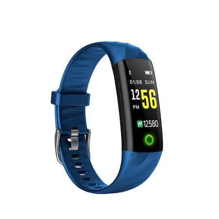 Bratara fitness ultra usoara Optimus AT 55, IP68, puls, tensiune, pedometru, notificari, calorii, distanta, dark blue