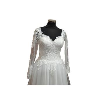 Menyasszonyi ruha, Claris modell, Hercegnő stílus, Színes elefántcsont, Méret 38 EU