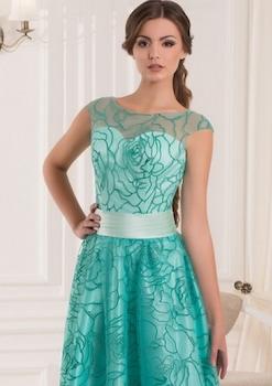 Gala ruha, Vanda modell, Méret: 36/38 EU, Szín: Zöld