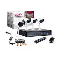 kit supraveghere video exterior 4 camere complet