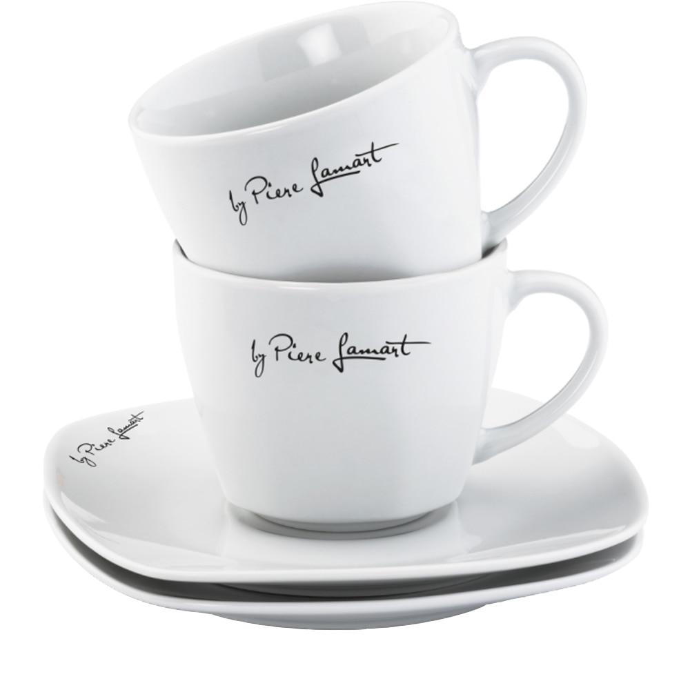Fotografie Set cafea Lamart Dine, portelan, 4 piese, 90 ml