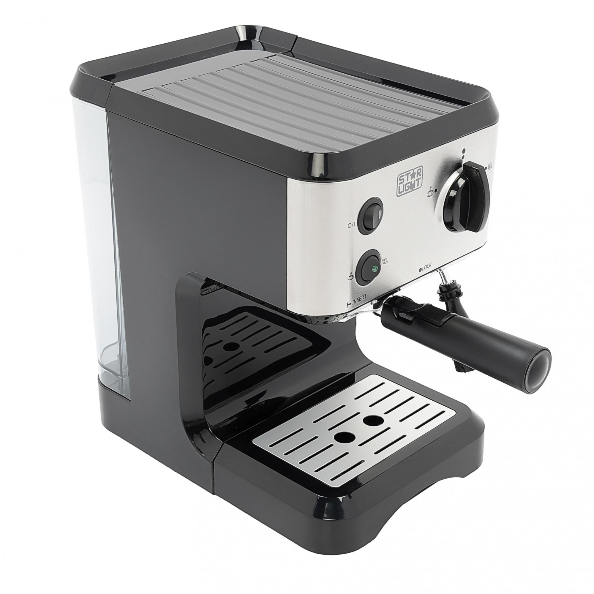 Star Light EMD 776 Kézi eszpresszógép, 1050W, 15Bar, 1.25L, Fekete