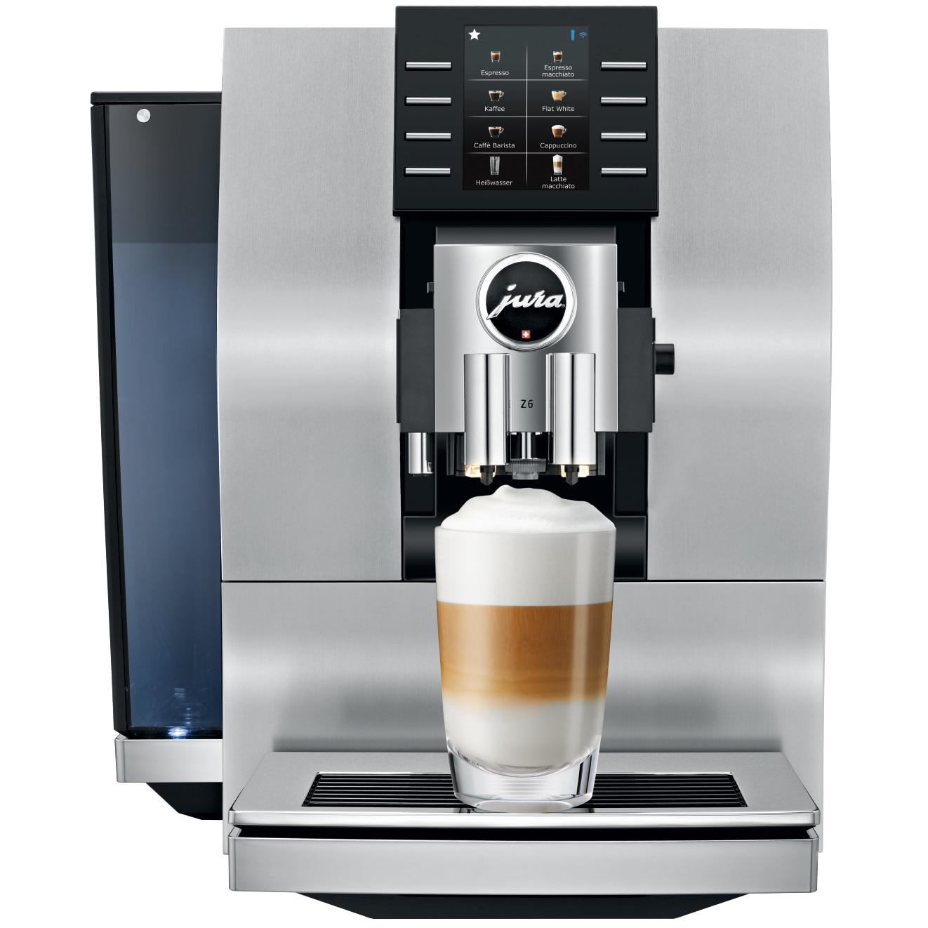 Fotografie Espressor automat Jura Z6, 15 bari, 2.4 l, 280 gr, rasnita Professional Aroma, 22 specialitati one touch, afisaj, Argintiu