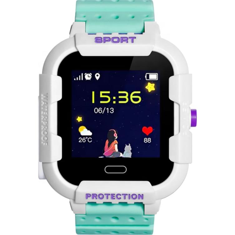 Fotografie Ceas smartwatch copii Wonlex KT03, GPS, Functie telefon, SIM prepay cadou, Verde