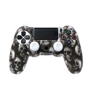 PS4 sorozat - Kontrollerhez szilikon borítás - skull