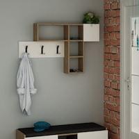Homitis Előszoba szekrény, 15x99.5x61 cm, forgácslap, Fehér/Sonoma